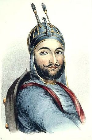 Wazir Akbar Khan - An old drawing of Wazir Akbar Khan