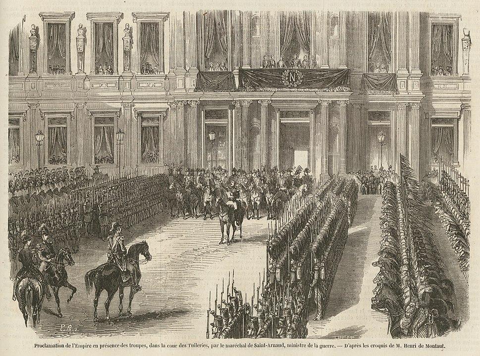 Proclamation de l'Empire, à l'Hôtel de ville, le 2 décembre 1852