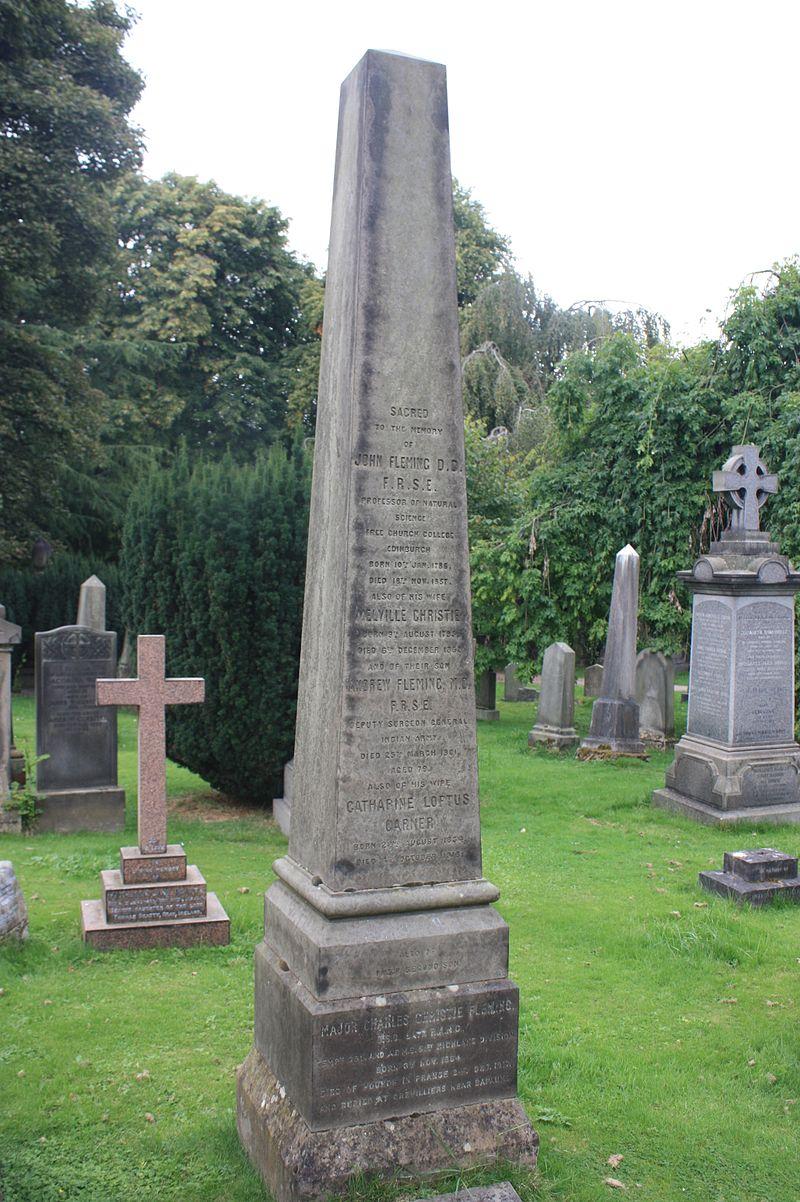 Prof John Fleming%27s grave, Dean Cemetery.JPG