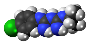 Proguanil molecule spacefill.png