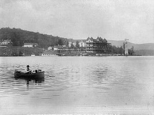 Blue Mountain Lake, New York - Image: Prospect House, Blue Mountain Lake 1889 Stoddard