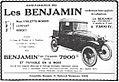 Publicité des voitures Benjamin, suite à la course Paris-Nice de 1923.jpg