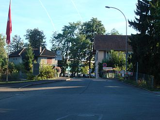 Puplinge - French-Swiss border between Puplinge and Ville La Grand