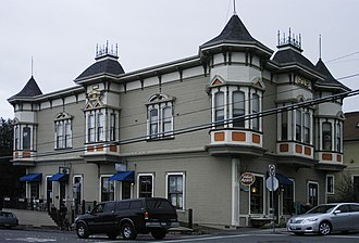 Arcata, California - The Pythian Castle building in Arcata is on the National Register of Historic Places.