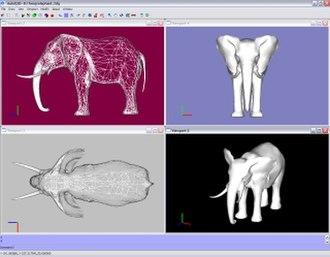 AutoQ3D Community - Image: Q3D Elephant