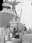QF 4.7-inch Mk VIII anti-aircraft gun on HMS Rodney 1940 IWM A 88.jpg