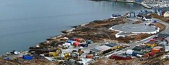 Qaqortoq - Qaqortoq heliport in 2008