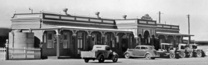 Longreach railway station - Front of station, 1938