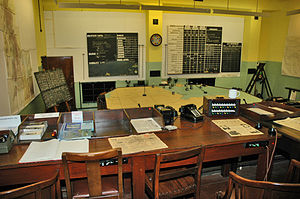 RAF Digby - Sector Operations Room Museum - displayed as it was in 1939