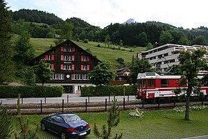 Luzern–Stans–Engelberg railway line - LSE in Engelberg