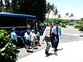 ROCAF Sergeant Helping Reserve Walkng into Wing Main Building 20130601.jpg