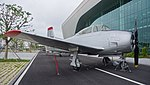 ROKAF T-28A(17-816) right front view at Jeju Aerospace Museum June 6, 2014 02.jpg