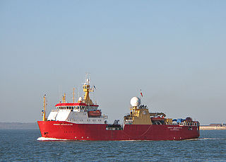 ship used by the British Antarctic Survey