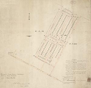 Charles Blakiston - Subdivision plan for Blakiston's land off Ferry Road