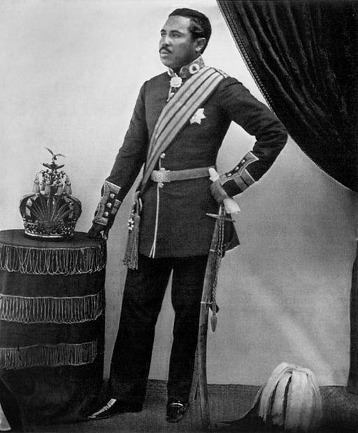 Radama II with crown
