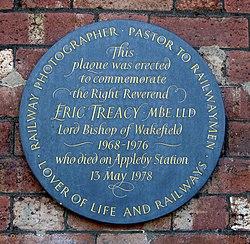 Photo of Eric Treacy slate plaque