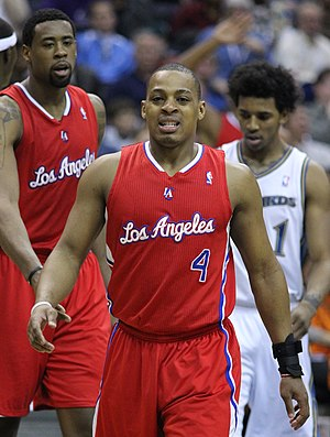 Randy Foye - Foye (center) with DeAndre Jordan (left) and Nick Young (right) in 2011