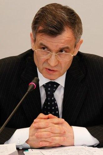 Police of Russia - Rashid Nurgaliyev, former Russian Minister for Internal Affairs (2003–2012), who led the dissolution of the Militsiya.