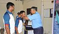 Rear Admiral Ajendra Bahadur Singh awarding prizes to the winners of the Navy Open Enterprise Class Yachting Championship 2014-15 (1).jpg