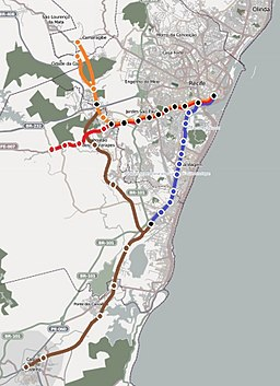 Recife metro geografic map