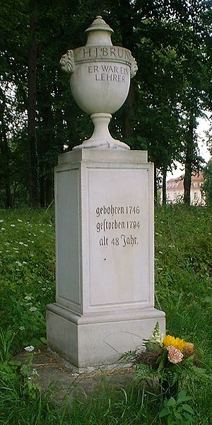 "Prussian education system - Bruns-Memorial in Reckahn, ""He was a teacher"""