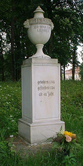 "Prussian education system - Bruns-Memorial in Reckahn, ""He was a teacher"""
