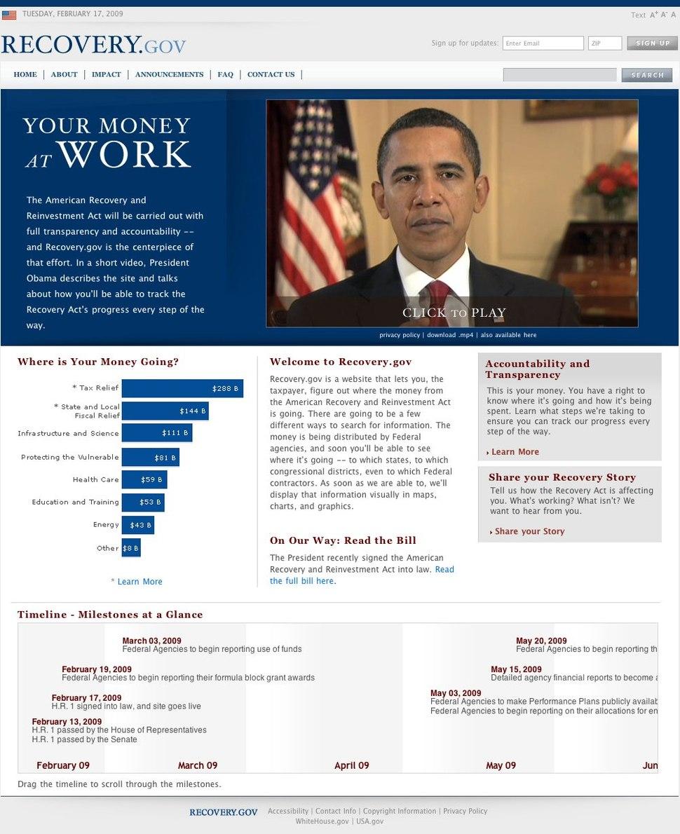 Recovery.gov 2-17-09