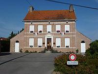 Recques-sur-Hem (Pas-de-Calais) mairie.JPG