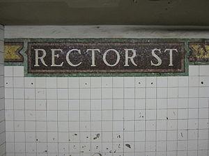 Rector Street (BMT Broadway Line)