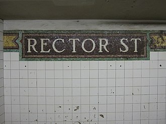 Rector Street (BMT Broadway Line) - Image: Rector Street BMT 006