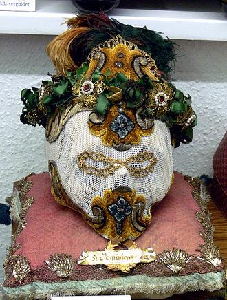 Catacomb saints - Image: Reliquie Katakombenheiliger St Dominicus Mf K Wgt