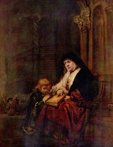 Timothy and his grandmother, 1648