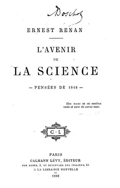 File:Renan - L'Avenir de la science, pensées de 1848.djvu