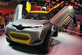 Swan doors - Renault Kwid concept with electronically operated Swan doors