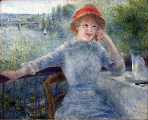 Painting of Renoir in the Orsay Museum, Paris ...