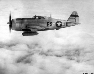Jayuya Uprising - P-47 Thunderbolt - Type of military aircraft that bombed Jayuya and Utuado