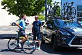 Riccardo Minali of Astana before the start of Stage 2 in Modesto (34998802296).jpg