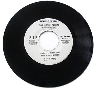 The Little Prince - A short 45 RPM demo recording by Richard Burton narrating The Little Prince with music by Mort Garson, excerpted from a longer 33⅓ RPM vinyl record album. Burton won the Best Children's Album Grammy Award for his narration (1975).