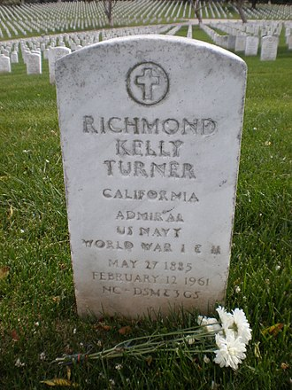 Richmond K. Turner - Turner's headstone at Golden Gate National Cemetery