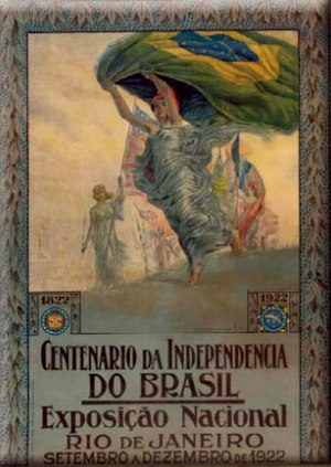 Independence Centenary International Exposition - Poster celebrating the 100th anniversary of the Independence of Brazil