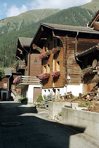 Grafschaft, Switzerland - Ritzingen village