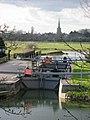 River Thames lock at St John's Bridge, Lechlade - geograph.org.uk - 470118.jpg