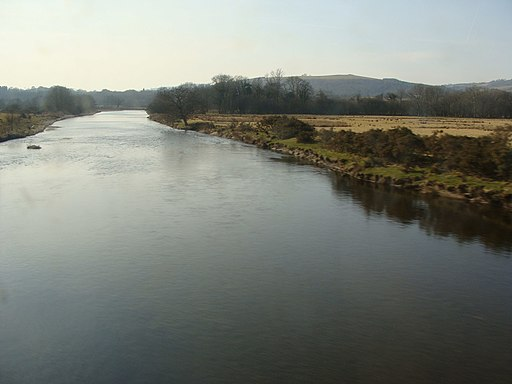 River Towy from Heart of Wales railway, Ffairfach, near Llandeilo - geograph.org.uk - 1749597