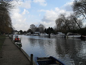 River Yare - The river at Thorpe Green, Norwich