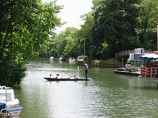 The Isis river in Oxfordhire, UK