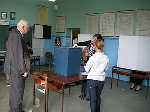 Bosnian general election, 2014 - On of the polling station in Sarajevo for 2014 election