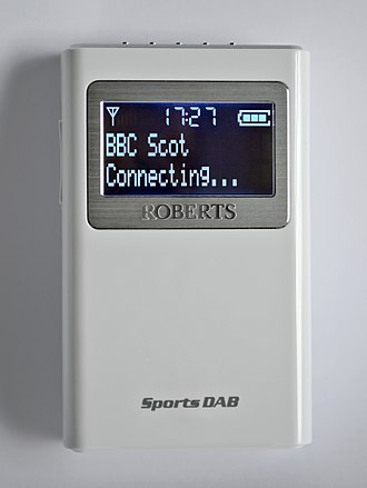 Digital audio broadcasting - Image: Roberts Sports DAB 5 Portable DAB and FM Radio