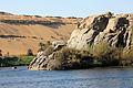 Rocks in River Nile Aswan , Egypt.JPG
