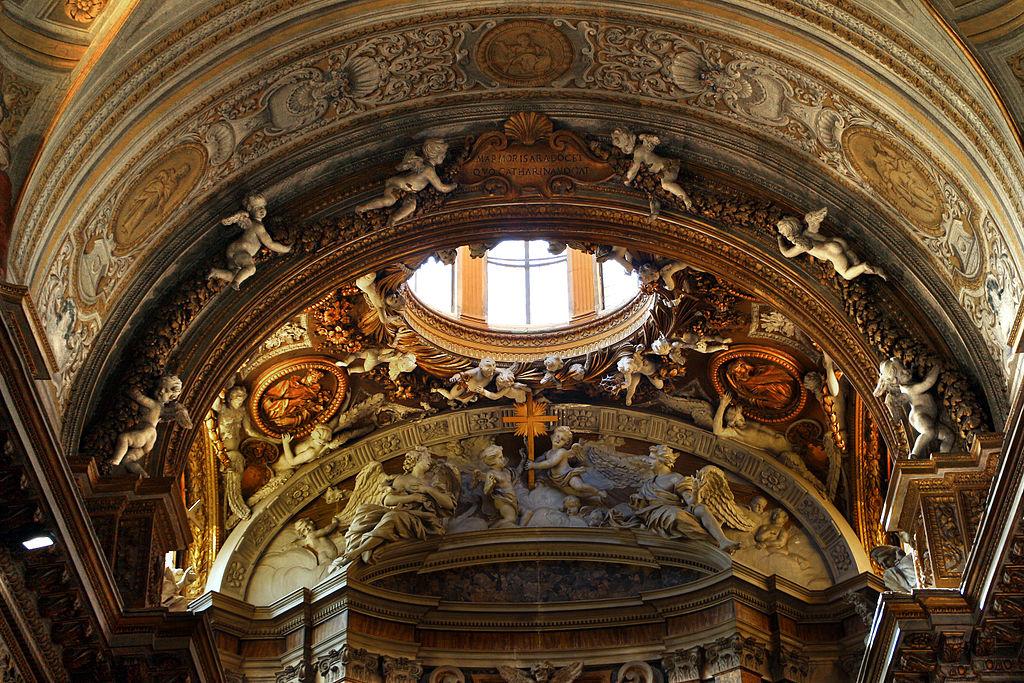 Roma, chiesa di santa caterina a magnanapoli, interno 03 stucchi 01.JPG