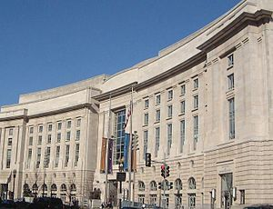 Ronald Reagan Building and International Trade Center - The 14th Street NW facade of the Ronald Reagan Building in 2006.